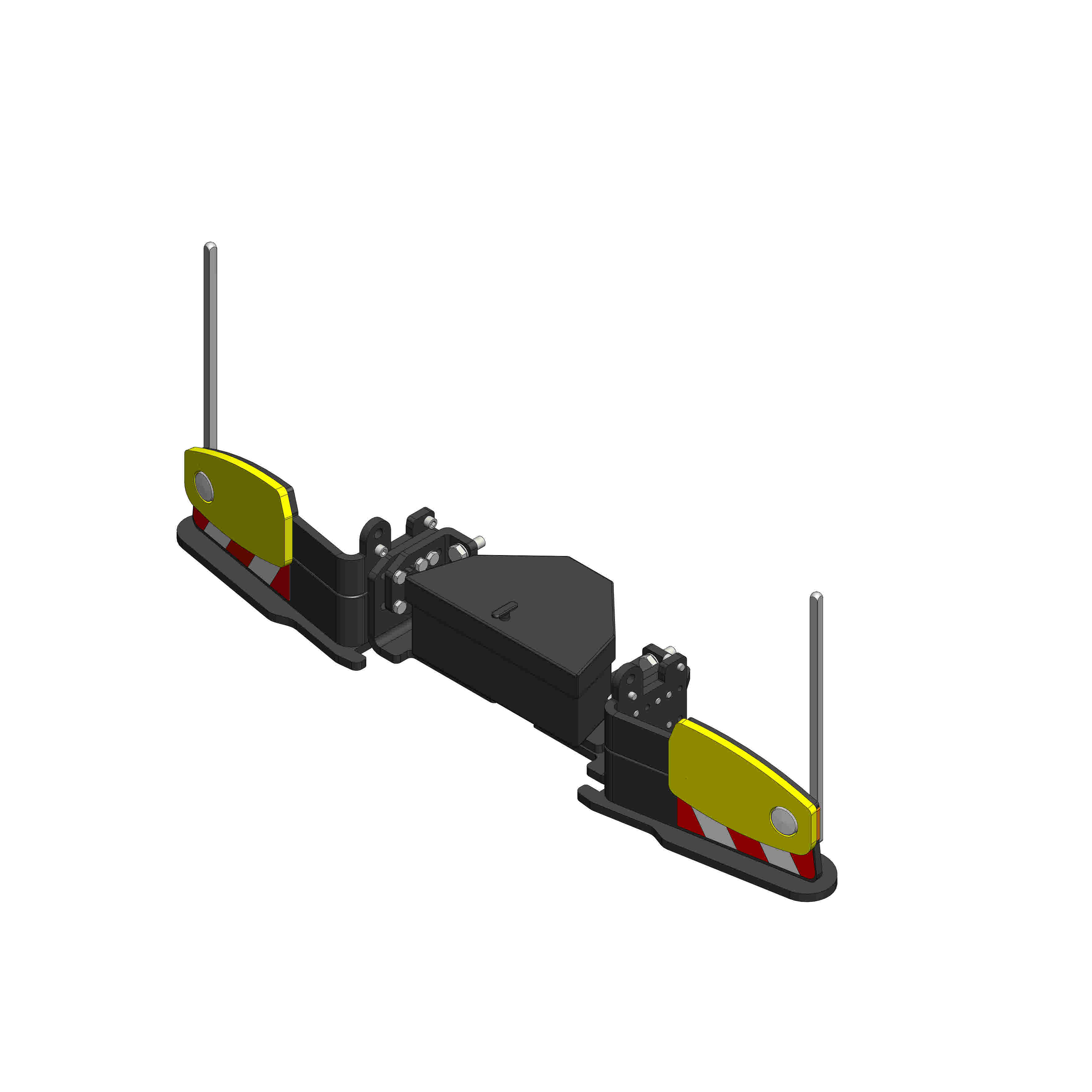 Boite à outils sur pare-chocs Agribumper BASE-LINE